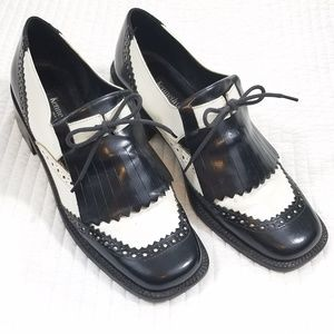 Kenneth Cole Oxford Loafers Kilts Shoes Laces 7.5